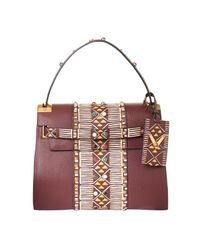 Valentino - Red My Rockstud Hand-Painted Leather Bag - Lyst