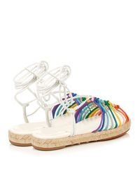 Chloé - Natural Leather Espadrille Sandals - Lyst