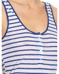 FRAME White Le Nautical Striped Linen Tank Top