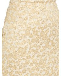 Rochas - Metallic Brocade Midi Skirt - Lyst
