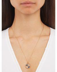 Aurelie Bidermann - Blue Diamond, Sapphire & Yellow-gold Necklace - Lyst