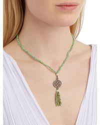 Jade Jagger | Green Diamond, Chrysoprase & Silver Necklace | Lyst