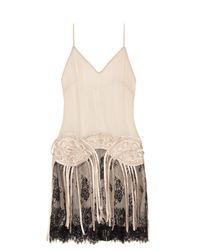 Loyd/Ford | Natural Fringed Silk-chiffon Slip Dress | Lyst