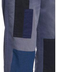 Golden Goose Deluxe Brand Blue Kim Patchwork Boyfriend Jeans
