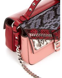 Fendi - Multicolor Double Micro Baguette Leather Cross-body Bag - Lyst