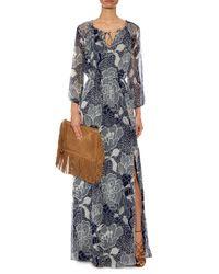 Diane von Furstenberg - Blue Parry Silk-Chiffon Dress - Lyst