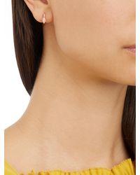Elise Dray | Multicolor Diamond, Quartz & Pink-gold Mini Hoop Earring | Lyst