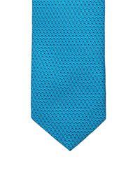 Mathieu Jerome | Blue Micro Geometric-jacquard Silk Tie for Men | Lyst