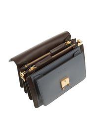 Marni Black Trunk Medium Bi-Color Leather Shoulder Bag