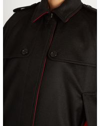 Burberry Black Wolseley Point-collar Cashmere Cape