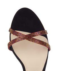 Sophia Webster - Multicolor Adeline Crystal And Suede Sandals - Lyst