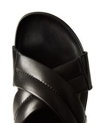 Burberry - Multicolor Crossover Leather Sandals for Men - Lyst