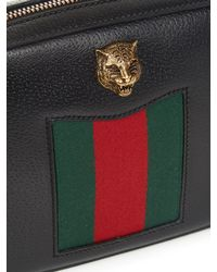 Gucci | Black Animalier Grained Leather Cross-Body Bag | Lyst