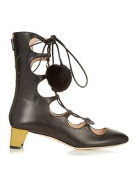 Gucci | Multicolor Heloise Lace-up Leather Boots | Lyst