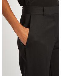 Stella McCartney Black Cropped Tuxedo Trousers