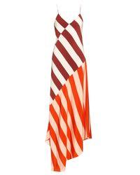 Jonathan Saunders | Multicolor Connie Stripe-print Sleeveless Dress | Lyst