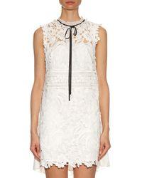 Self-Portrait - White Graciella Guipure-lace Mini Dress - Lyst
