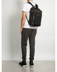 Moncler Black Yannick Nylon And Leather Backpack for men