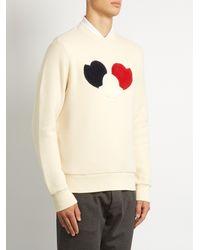 Moncler Black Logo-appliqué Cotton-blend Jersey Sweatshirt for men
