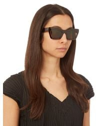 Céline - Brown Eva Rectangle-frame Sunglasses - Lyst