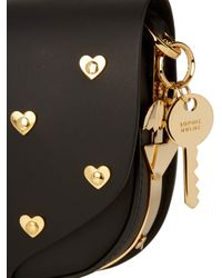 Sophie Hulme Black Mini Barnsbury Studded-heart Cross-body Bag