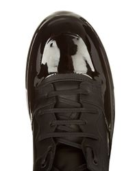 Balenciaga Black Dipping-effect High-top Leather Trainers for men