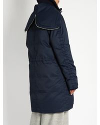 Acne Studios Blue Alston Hooded Down Parka