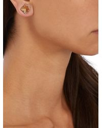 Givenchy - Metallic Prism Magnetic Earrings - Lyst