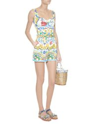 Dolce & Gabbana Multicolor Majolica-print Floral-brocade Shorts