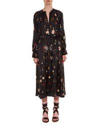 Isabel Marant - Black Olympe Cosmic-print Dress - Lyst