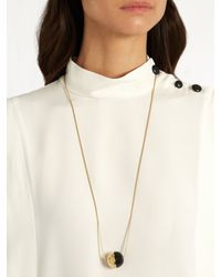 Isabel Marant - Black Piece On Earth Bauble Pendant Necklace - Lyst