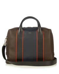 Paul Smith | Brown Colour-block Leather Piped Briefcase for Men | Lyst