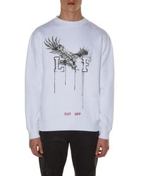 Off-White c/o Virgil Abloh Brown Eagle-print Sweatshirt for men