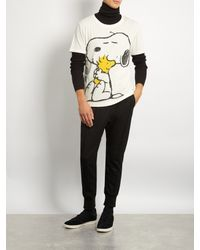 Gucci Multicolor Snoopy And Woodstock-print Cotton T-shirt for men
