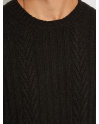 Ermenegildo Zegna - Multicolor Ribbed And Chevron-knit Cashmere Sweater for Men - Lyst