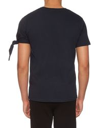 J.W.Anderson Blue Single Knot T-shirt for men