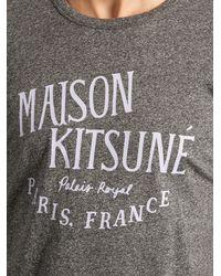 Maison Kitsuné - Gray Palais Royal Crew-neck T-shirt for Men - Lyst
