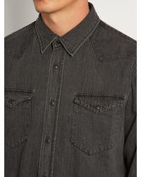 Kuro Gray Zoro Western Denim Shirt for men