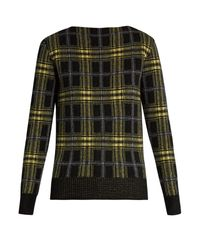 Tomas Maier | Multicolor Plaid Wool And Cashmere-blend Sweater | Lyst
