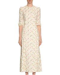 The Vampire's Wife Multicolor Cate Cotton Midi Dress