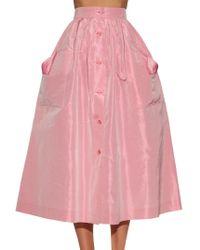 The Vampire's Wife Pink Visiting Silk-taffeta Skirt