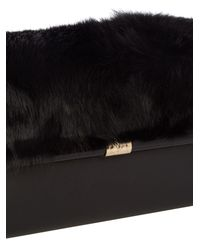 Diane von Furstenberg Black 440 Envelope Clutch
