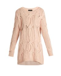 Tabula Rasa Pink Arin Hand-knit Alpaca-wool Sweater