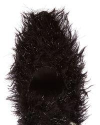 Simone Rocha Black Cross-strap Tinsel Flats