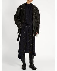 Golden Goose Deluxe Brand | Black Biker-h Distressed-leather Flat Boots | Lyst