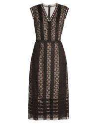 Bottega Veneta | Black Layered Silk-organza Dress | Lyst