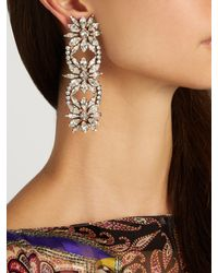 Shourouk - Multicolor Crystal-embellished Clip-on Drop Earrings - Lyst