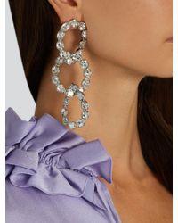 Sonia Rykiel - Metallic Crystal-embellished Earrings - Lyst