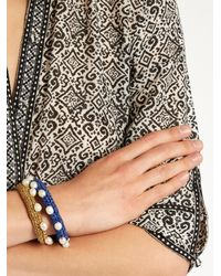 Lucy Folk   Metallic Pearl Diver Crochet And Pearl Bracelet   Lyst