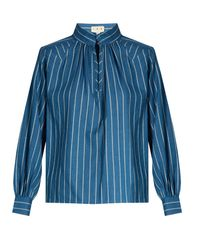 Trademark Blue Hardin Striped Cotton Shirt